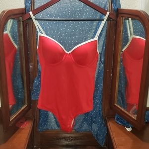 Brand new red 34c one piece shade&shore bikini